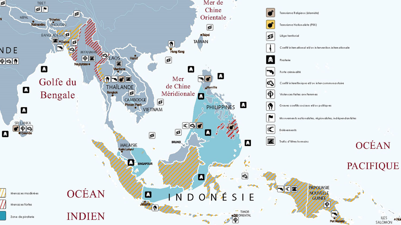Zone Asie du Sud est